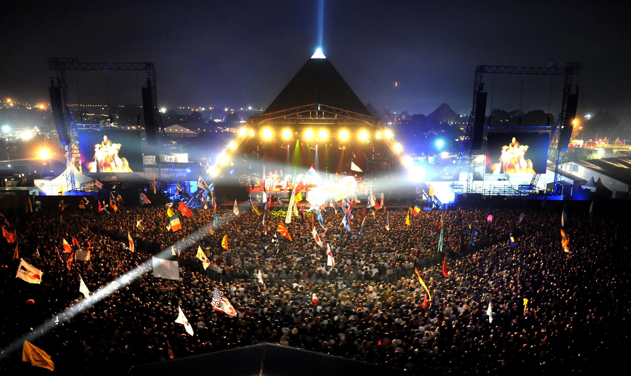 Escenario principal del Festival de Glastonbury en Reino Unido © Gig Addict