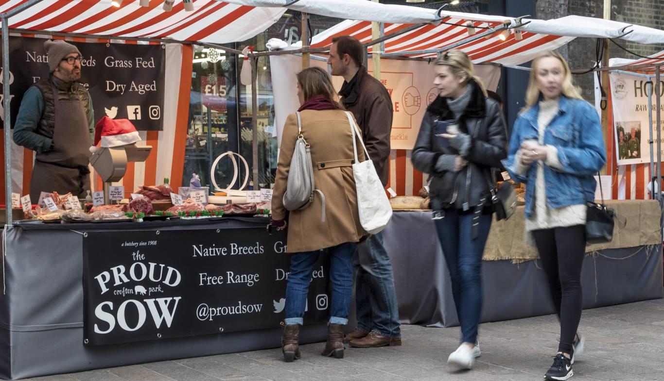 Mercados ideales para conocer la vida en Londres