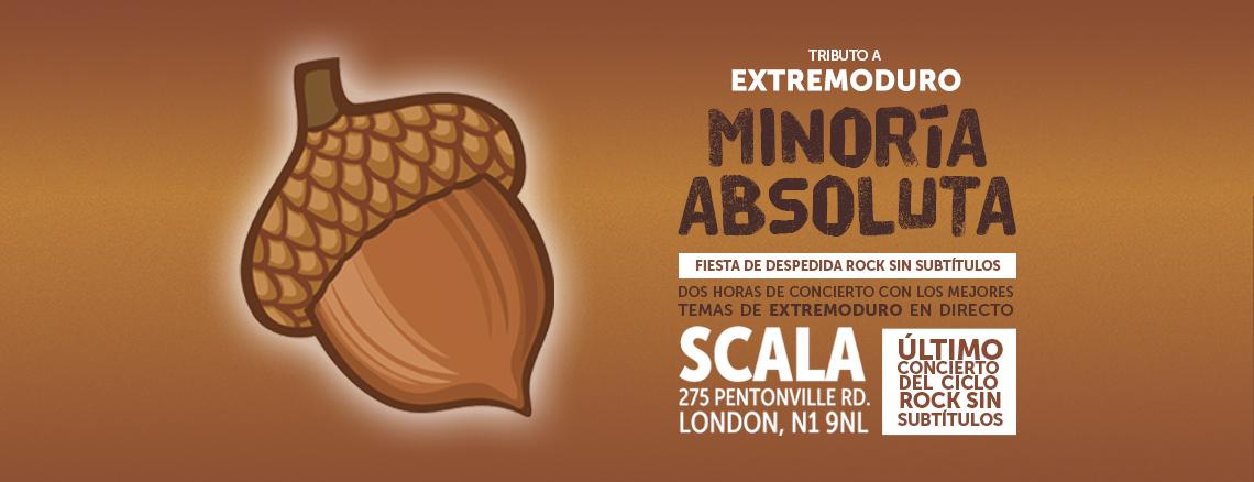 Minoría Absoluta<br /><span>30 Noviembre 2019 / Scala, Londres</span>